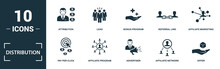 Distribution Icon Set. Monochr...