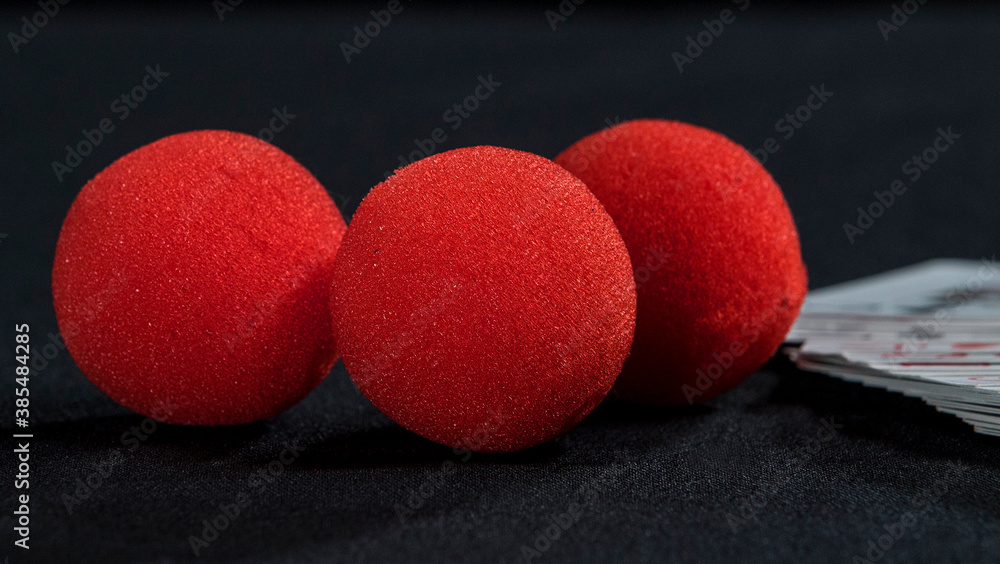 Fototapeta Red sponge magic balls