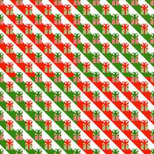 クリスマス パターン素材 プレゼントボックス (1_4)