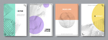 Set Of Minimal Cover Templates In Muted Colors. Vector Flat Illustration.