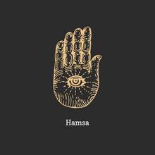 Hamsa, Vector Image. Sketch Of...