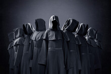 Group Of Nine Scary Figures In...