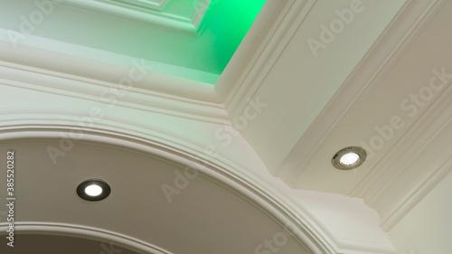 Canvastavla Living room LED spotlights and hidden lighting