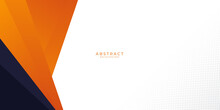 Modern Orange Black Abstract Presentation Background With White Space For Text