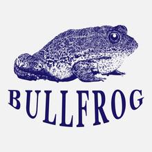 Bullfrog Vintage Logo Illustra...