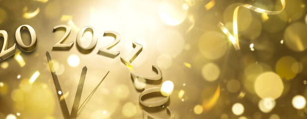 Fototapeta Boks New year 2021