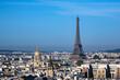 canvas print picture - Blick auf den Eiffelturm in Paris, Frankreich