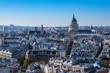 canvas print picture - Blick auf das Pantheon in Paris, Frankreich