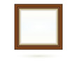 Presentation square picture frame design with shadow on transparent background