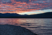 Lake McDonald Fiery Sunset