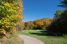Beautiful Autumn Leaves At Golf Course In Ontario Canada
