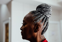 Profile Of Senior Black Woman ...