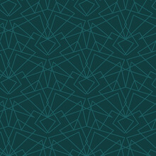 Teal Colored Geometric Grid Seamless Vector Pattern. Unisex Surface Print Design For Backgrounds, Textiles, Stationry, Scrapbook Paper, Gift Wrap, Home Decor, Wallpaper, And Packaging.
