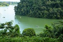 View Of A Tropical Lake Surrou...
