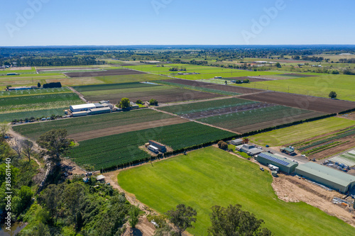 Fototapeta Aerial view of farmland in regional New South Wales in Australia obraz