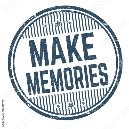 Make memories grunge rubber stamp