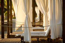 Beach Cabanas With Lounge Chai...