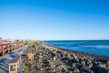 The Coastline Of Eyrarbakki In...
