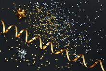 Confetti Stars, Gold Streamer ...