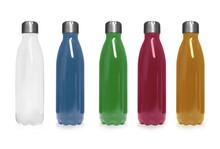 Set Of Modern Thermos Bottles ...