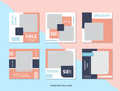 odern promotion square web banner for social media mobile apps. Social media for fashion and shop