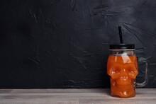 Orange Halloween Cocktail In S...