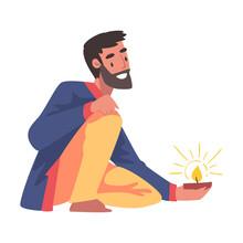 Cheerful Bearded Man In Tradit...