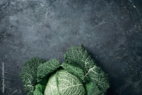 Foto Raw green cabbage texture