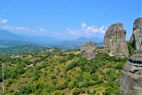 Tablou Canvas Meteora Land in the Sky: Great ancient city of Meteora in Greece