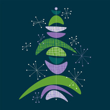 Christmas Tree Concept In Midcentury Modern Style