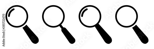Obraz Search icons design.Magnifying glass icon isolated.Search icons flat for apps and websites design.Magnifier or loupe sign set vector illustration. - fototapety do salonu