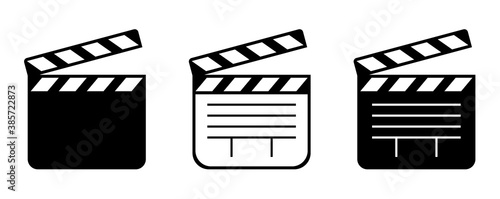 Fotografia Filmklappe icon.Vector illustration