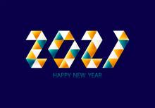 New Year 2021. Bright Geometri...