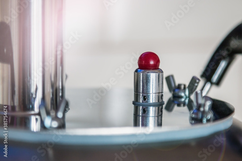 Valokuvatapetti the pressure control blasting valve is installed on industrial equipment
