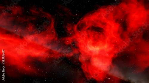 Nebula and galaxies, science fiction wallpaper Wallpaper Mural