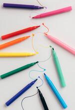 Colorful Felt Tip Pens Connect...