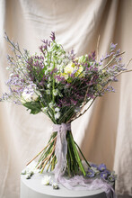 Studio Shot Of Purple Bouquet ...