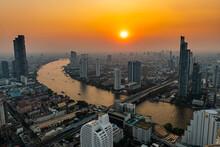 Thailand, Bangkok, Aerial View...
