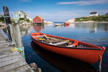 Boats Moored At Peggy's Cove H...