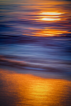 Blurred Motion Of Ocean At Dawn