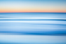 Blurred Motion Of Sea At Dawn