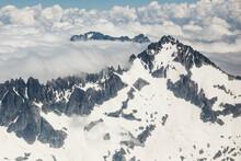 Scenic View Of Snowy Buckner Mountain And Ripsaw Ridge