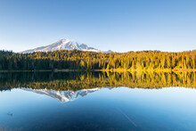 Reflection Of Mount Rainier An...