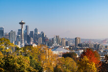 Scenic View Of Space Needle And Seattle Skyline
