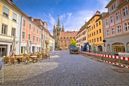 Fotografie, Obraz Ansbach. Old town of Ansbach picturesque square view