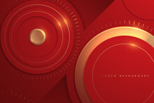 Abstract Red And Gold Circle Background