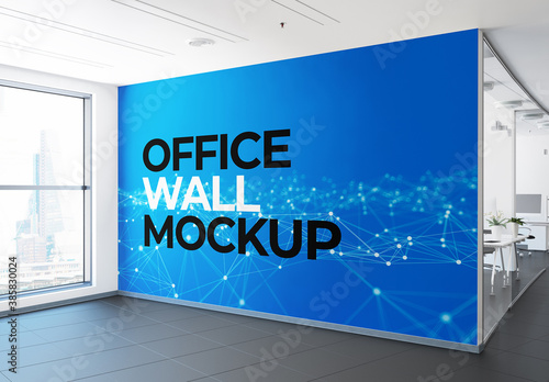 Office Wall Mural Mockup