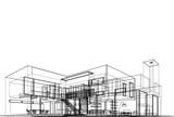 Fototapeta Do przedpokoju - sketch of building