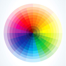 Color Wheel 24 Colors With Color Wheel With Harmonious Design