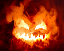 Fiery Red Hot Halloween Jack O...